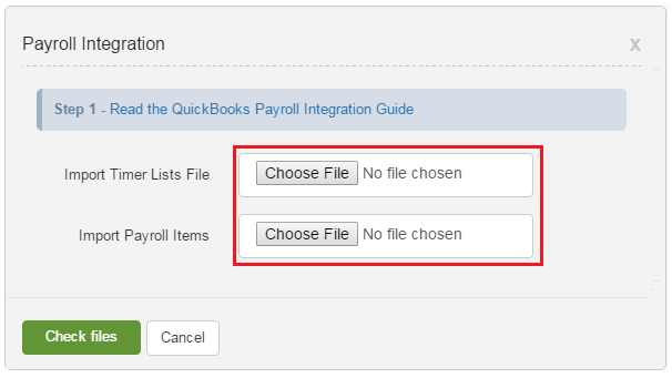 Payroll integration choose file